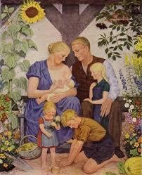 ტრადიციული არიული ოჯახი. გერმანია 1930-იანი წლები